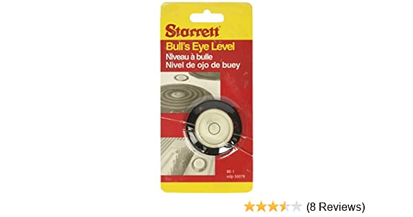 Starrett BE-1 Acrylic Circular Bullseye Level with Flange, 1.180