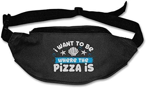 ピザユニセックスアウトドアファニーパックバッグベルトバッグスポーツウエストパック