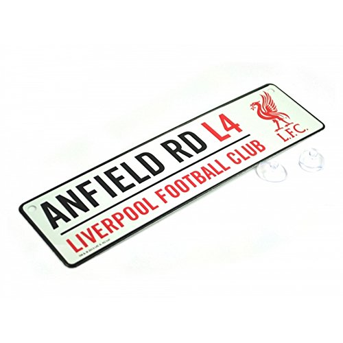 Liverpool FC Official Soccer 3D Embossed Metal Hanging Street Sign (One Size) - Shop 3 Liverpool Street