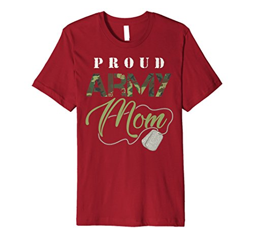 Army Mom Yellow T-shirt - Proud Army Mom Shirt | Cute Military Mama T-shirt USA Gift