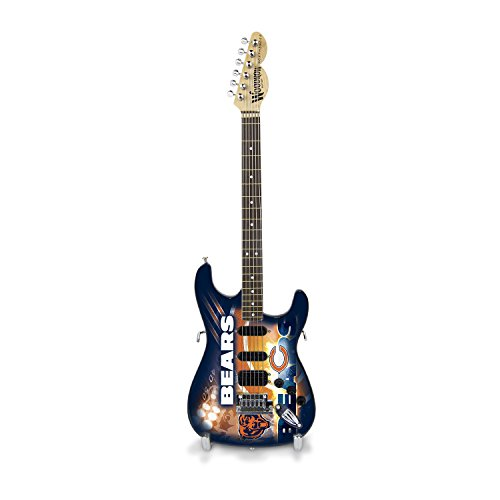 Woodrow Guitar by The Sports Vault NFL Chicago Bears Collectible Mini NorthEnder Guitar