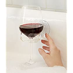 SipCaddy Suction Wine Glass Holder for Bath