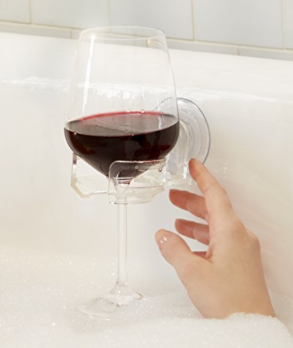 Bath & Shower Suction Cupholder Caddy for Wine