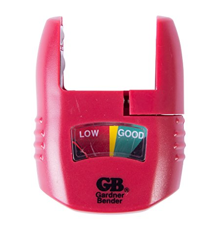 Cell Tester - Gardner Bender GBT-3502 Household Analog Battery Tester, Extendable Arm, Easy Read Indicator, Tests: AA / AAA / C / D 9V / 1.5 V Button Cell / N Batteries, (Replaces GBT-502A) Red