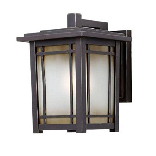 Home Decorators Collection Port Oxford 1-light Oil Rubbed Chestnut Outdoor Wall Mount Lantern -