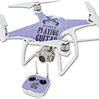 Skin For DJI Phantom 4 Quadcopter Drone – Playing Guitar | MightySkins Protective, Durable, and Unique Vinyl Decal wrap cover | Easy To Apply, Remove, and Change Styles | Made in the USA