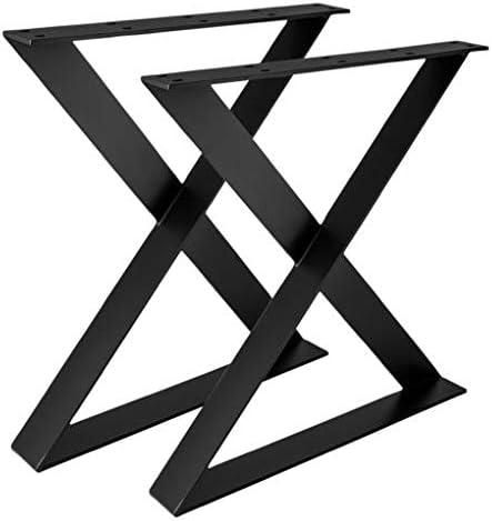 Madera werk24 mesa estructura tux505 Acero Negro Cruz X estructura ...