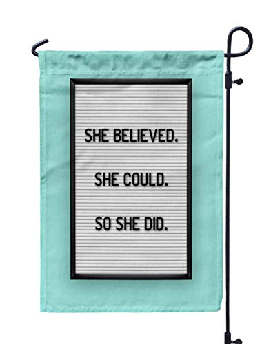 Shorping Garden Flag Stand, 12x18Inch Motivation on White
