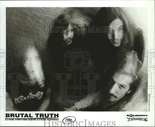 Vintage Photos 1992 Press Photo Four Members of The Band Brutal Truth, Entertainers - - Truth Band Brutal