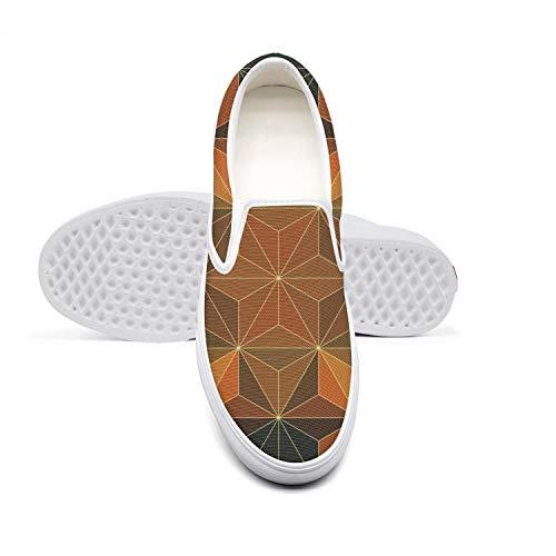 Women's Dimetric Foursquare Canvas One-Legged Casual Shoes Fashion Comfortable Loafers]()
