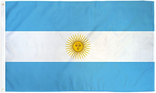 Quality Standard Flags Argentina Polyester Flag, 3 by 5