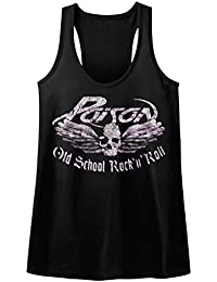 Poison Skull And Wings Old School Rock N Roll Womens Tank Top Shirt