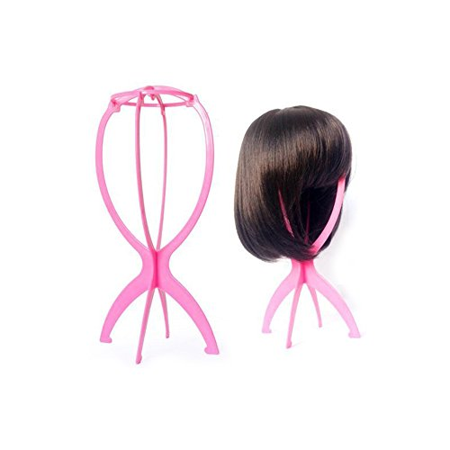 TINYUNICORN Folding Stable Durable Wig Hair Hat Cap Holder Stand Holder Display Tool (Madeline Costume For Adults)