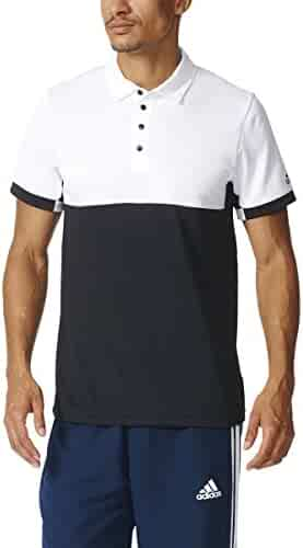 7c382619b08c7c adidas Men s T16 CC Team Tennis Polo Shirt  Tall Sizes  Black White aj8752