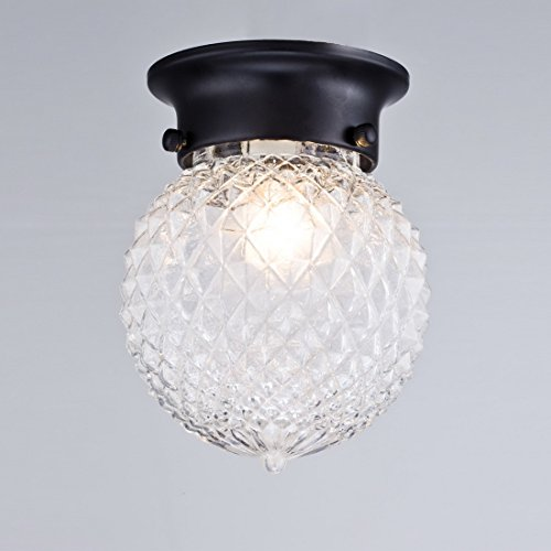 Truelite industrial antique style plantation collection flush truelite industrial antique style plantation collection flush mount ceiling light prismatic glass globe light fixtures aloadofball