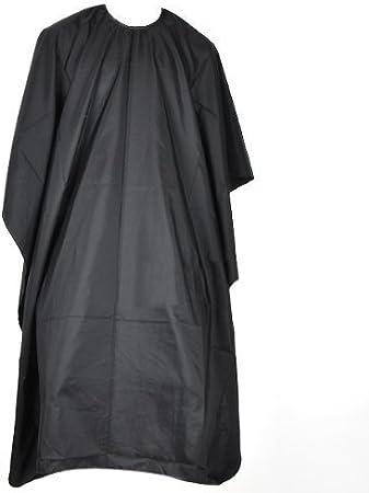 Accessotech - Capa de peluquería, 145 x 120 cm, color negro