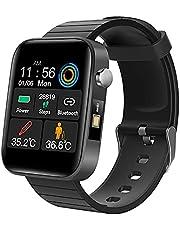 Smart Watch, Fitness Tracker Män Kvinnor 1,54 tum Färg Full Touch Screen Smart Watch med pulsmätare Blodtryck Sleep Monitor Fitness Tracker, Activity Tracker stegräknare för Android iOS