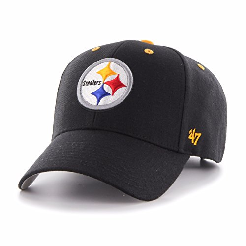 Nfl Pittsburgh Steelers Snap (NFL Pittsburgh Steelers '47 MVP Adjustable Hat, One Size, Black)