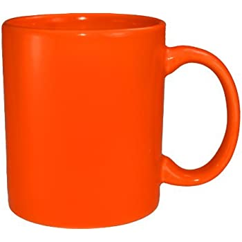 Amazon Com Funny Guy Mugs Plain Orange Ceramic Coffee Mug