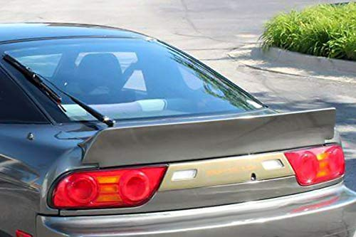 Wing Nissan Spoiler 240sx (Nissan 240SX 1989-1994 Hatchback Bunny Style 1 Piece Polyurethane Rear Wing Spoiler manufactured by KBD Body Kits. Extremely Durable, Easy Installation, Guaranteed Fitment and Made in the USA!)