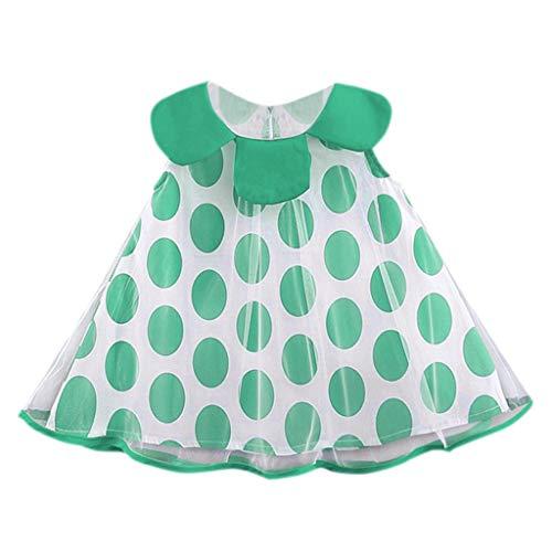 kaifongfu Summer Beach Dress Infant Baby Doll Collar Dot Print Skirt Sleeveless Mesh Princess ()