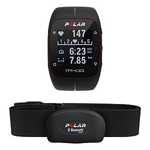 Polar M400 Cardiofrequenzimetro con GPS Integrato e Fascia Cardio Bluetooth Smart per Corsa Outdoor e Indoor, Nero