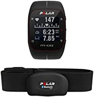 Polar M400 Cardiofrequenzimetro con GPS Integrato + Fascia Cardio, Nero