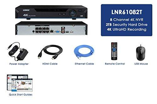 Lorex LNR61082T 4K NVR w/ 8 Channels (POE) 2TB HDD by Lorex