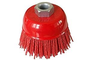 Cepillo de copa Ø 100 mm de nylon con rosca M14