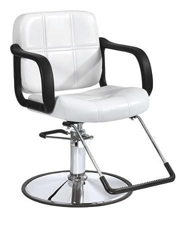 BestSalon® White Modern Fashion Hydraulic Barber Chair Styling Salon Beauty  Equipment 5W