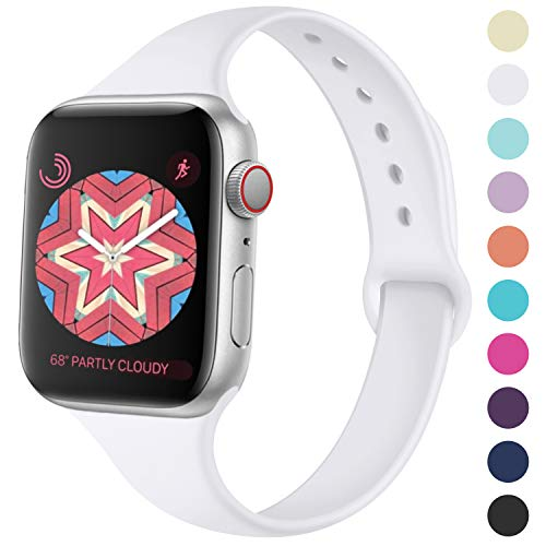 Cute Series - KOLEK Cute Bands Seamless Fit for iWatch Series 4 3 2 1 38mm 40mm, White