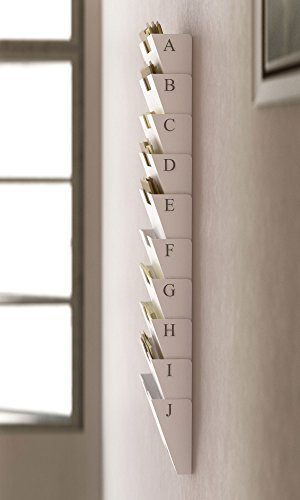 Wallniture Lisbon White Wall Mounted Steel File Holder
