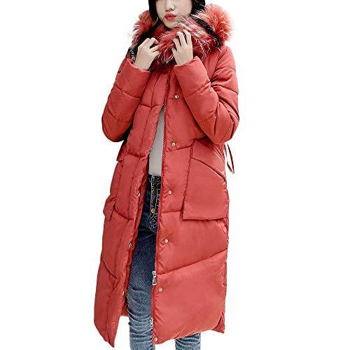Con De Blanco Acolchado Xl Mujer color Cálido Trinchera Abrigo Para Qiusa Invierno Algodón Capucha Rojo Tamaño 5qwn0FAxS