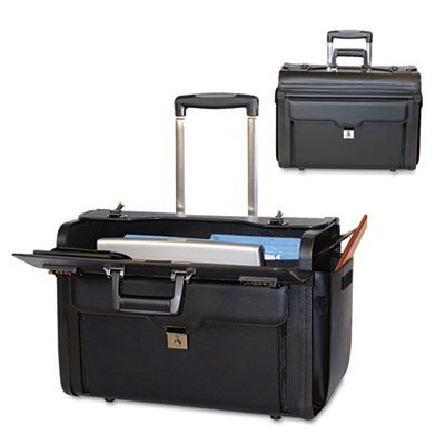 Rolling Computer/Catalog Case, Koskin, 19 x 9 x 15-1/2, Black, Sold as 1 ()