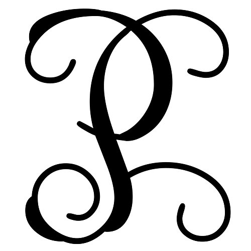 Custom Decor Initial It P Vine Monogram 12 5 In 1953