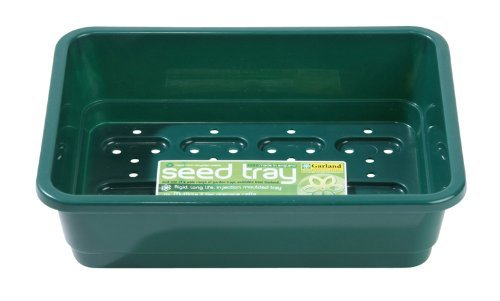 Garland GAL49HHG6 Standard Half-Size Seed Trays with Holes - Green (6-Piece)
