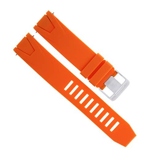 Seamaster Planet Ocean Rubber Strap - Orange Rubber Band Bracelet Strap for 45.5MM Omega SEAMASTER 22MM Planet Ocean