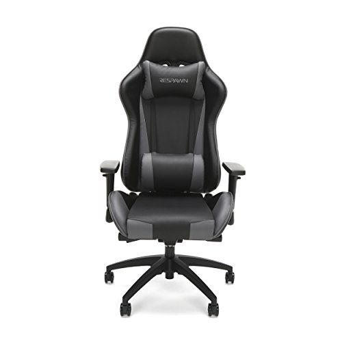 RESPAWN-105 Racing Style Gaming Chair - Reclining Ergonomic Leather Chair, Office or Gaming Chair (RSP-105-GRY) by RESPAWN (Image #1)