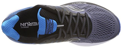 De Saucony Running 10 Homme blk blu gry Gris 8 Chaussures Ride qwRwPft
