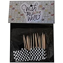 Checkered Toothpick Flag Cupcake Toppers *Set of 20*