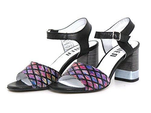 Simen Women's Fashion Sandals Purple Purple Schwarz CFxGT