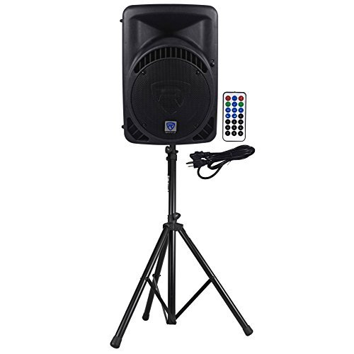 "Rockville RPG12BT 12"" Powered 800W DJ PA Speaker BlueTooth,U"