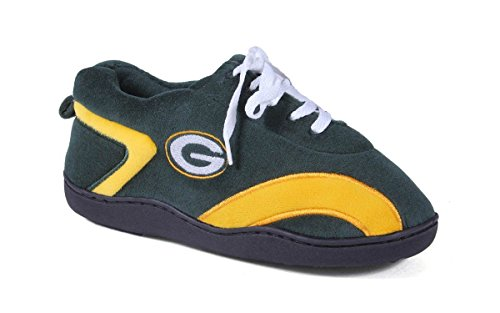 (GRB05-5 - Green Bay Packers - XX Large - Happy Feet Mens and Womens All Around Slippers )
