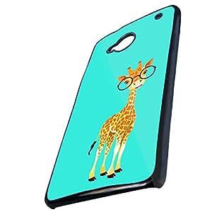 Tt-shop Custom Cute Cartoon Giraffe Wearing Glasses Pattern For HTC One M7(Laser Technology)