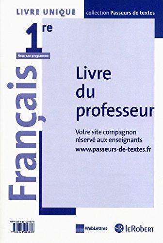 Français 1re Livre unique Collectif