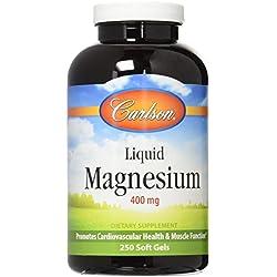 Carlson Labs Liquid Magnesium 400mg Soft-Gels, 250 Count