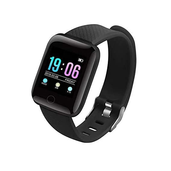 SILVERX M5 Smart Band Waterproof Fitness Tracker Watch - Steps & Calories Tracker, BP, HR OLED Touchscreen for Men & Women Compatible with Android & iOS Devices