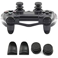L2 R2 Trigger Extended Button Analog Extender thumbtick Grip Enhanced Thumb Stick Cap For PS4 Controller -Black