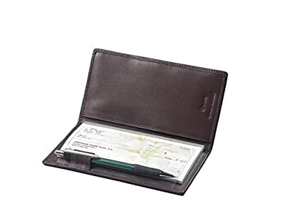Winn International Cowhide Napa Leather Simplified Checkbook Secretary