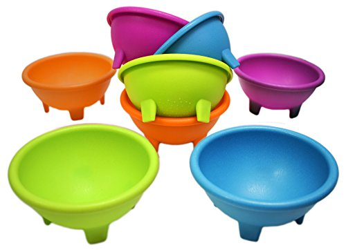 Dip Bowl (Set of 8 Multi Color Black Duck Brand 4.5
